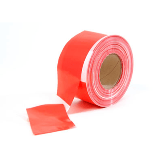 SquareTAPE barrier-tape red/white 80mm x 500m