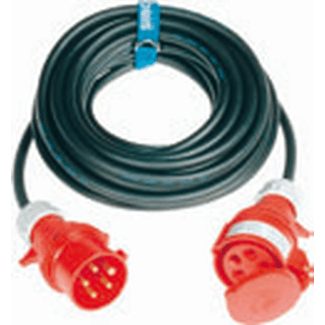 CEE cable 16A 5-pole, H07RN-F 5G2,5  length 3m