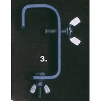 Doughty T2010401 HOOK CLAMP 50mm STANDARD (20 x 3