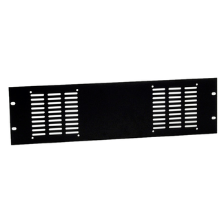 Adam Hall 8763 Rackpanel punched for 2 fans