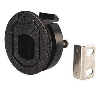 Adam Hall 1656 black plastic lever lock