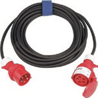 CEE cable 32A 5-pole, H07RN-F 5G6,0  length  3m