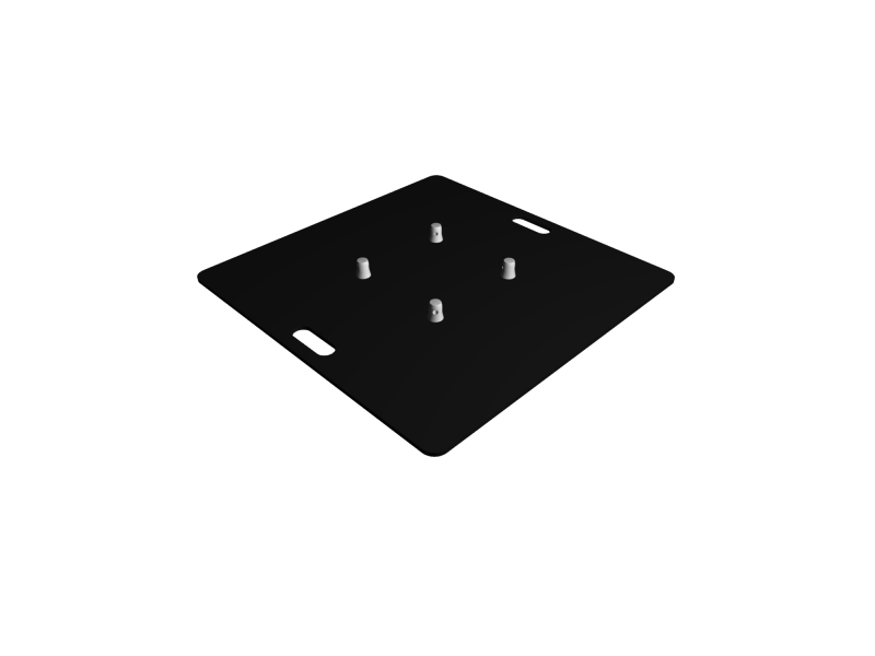 Baseplate 800mm steel (black)