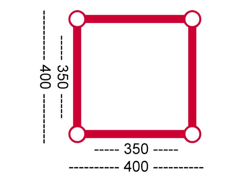 HOFKON 400-4 3-Weg T-Stück C35 - Traversenmaß: 400 x 400mm ...