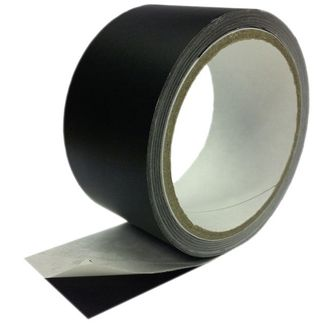 SquareTAPE Alu-tape black matt 25m / 50mm heatresi