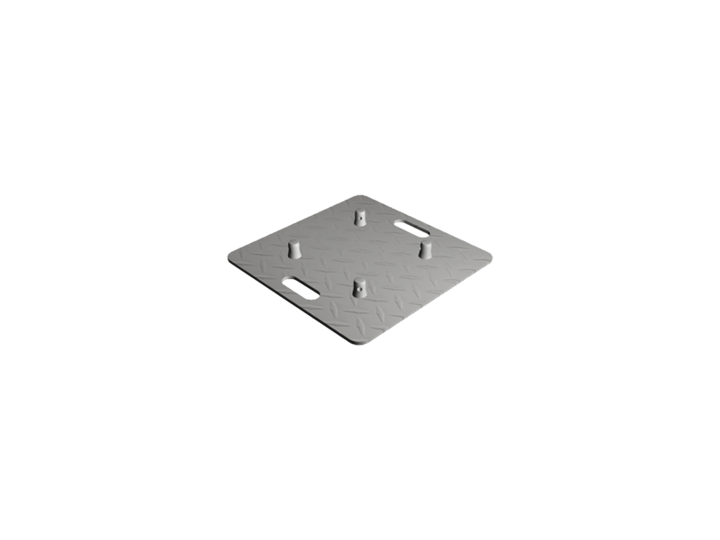 Baseplate 800mm checker plate