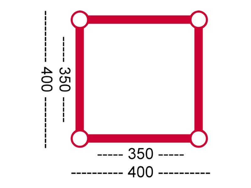 HOFKON 400-4 4-way corner C41 cross