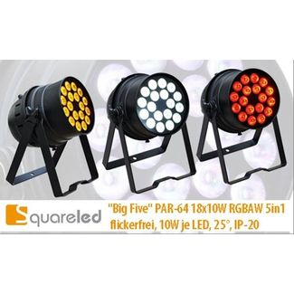 "SquareLED ""Big Five"" PAR-64 18x10W RGBAW 5in1"