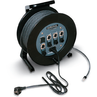 Cable drum with built-in switch