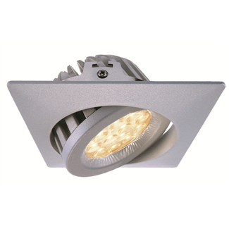 Kapego LED, TD36-20, 20W, 60 °, 3000K, silver, square recessed light