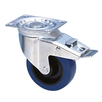 Adam Hall 37024 Swivel Castor 100mm with blue Whee