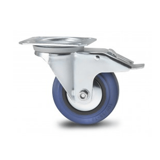 LTH PRO.fessional swivel castor with brake, Ø 100m