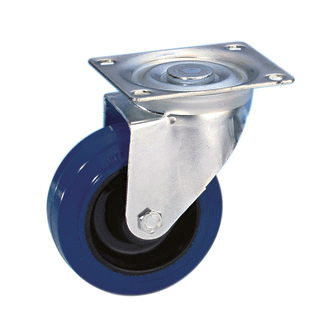 Adam Hall 37023 Swivel castor 100mm with blue whee