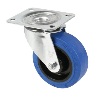 Adam Hall 37223 Swivel Castor 100mm with blue whee