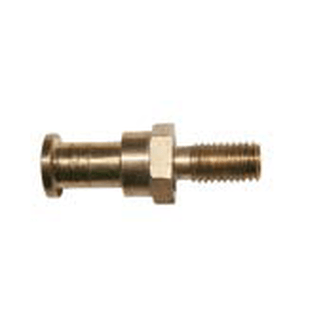 LTH PRO.fessional 174 Brass-Mini TV spigot 16mm with M10x25mm thread