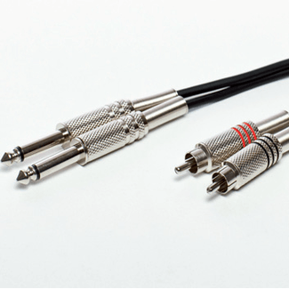 Cable 2x Chinch/2xKlinke 6,3mm 3m