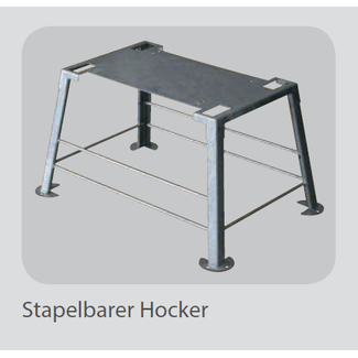 M-SVE5 UG Stackable stool, hot-dip galvanized