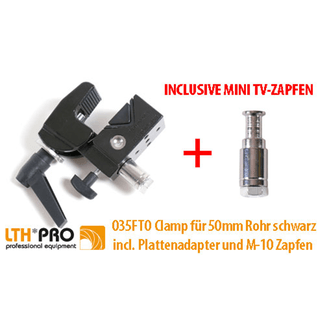 LTH PRO.fessional Clamp incl. plate adapter and M10 mini TV spigot