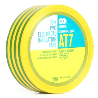Advance Tapes AT 07 15mm x 10m yellow/green