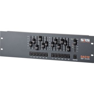 SRS DAC12-8 12 channel console, DMX out 3+5pin, 0-