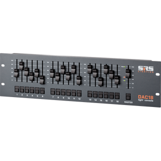 SRS DAC18-8 18 channel console, DMX out 3+5pin