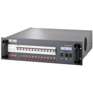 SRS DDP1210B-8 12x10A, main switch, DMX 3+5 pin,