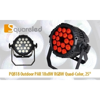 SquareLED PQ818 Outdoor PAR 18x8W RGBW Quad-Color