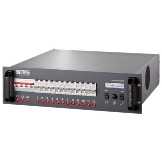 SRS DDPG1210B-8, 12x10A, DMX 3+5 pol, DIGITAL DIMMER WITH RCBO