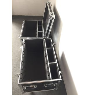SquareLED flightcase for 4x Bonjour Set | 6 Panels + 1 Driver