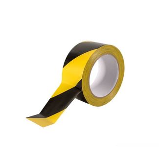 SquareTAPE color coding PVC tape yellow/black 50mm