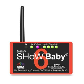 City Theatrical SHoW DMX SHoW BABY 6 3 Pin (Includes Power Supply and Hanging Bracket)